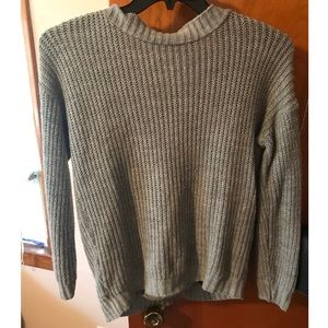 Charlotte Russe knit sweater with open back